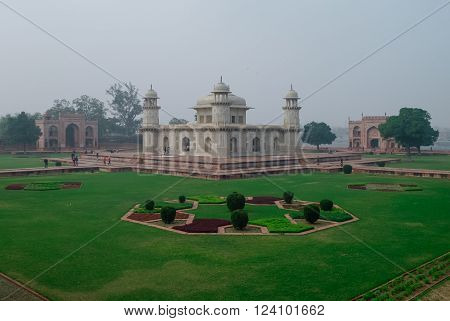Itmad-ud-daulah's Tomb In Agra, Uttar Pradesh, India. Also Known As The Jewel Box Or The Baby Taj.