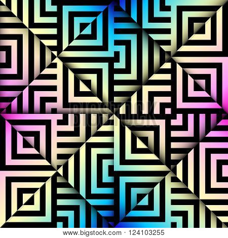 Seamless background pattern. Abstract relief geometric pattern.