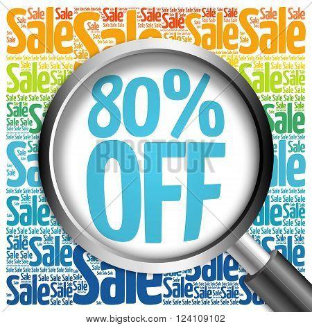 80% Off Sale Word Cloud