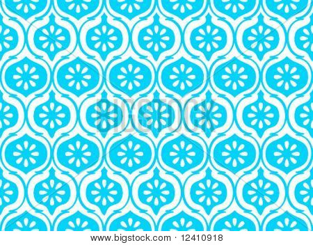 Seamless indian pattern in royal blue