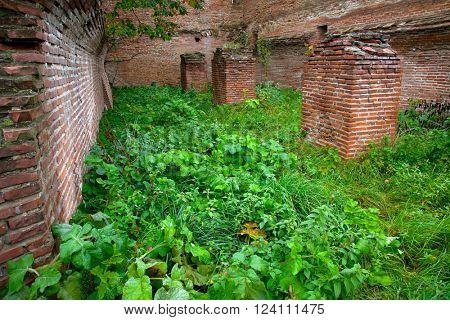 Monastery ruins in Romania, Europe