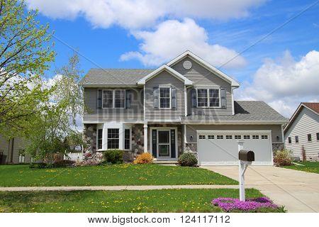 Modern style suburban home