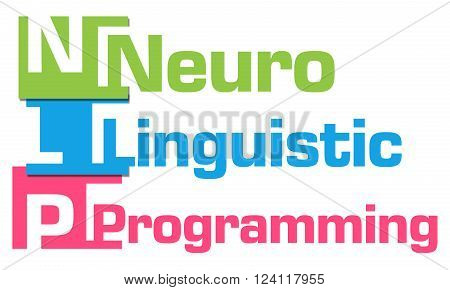 NLP and its full form written over abstract colorful background.