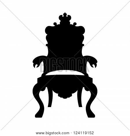 Throne on white background ( shade picture )