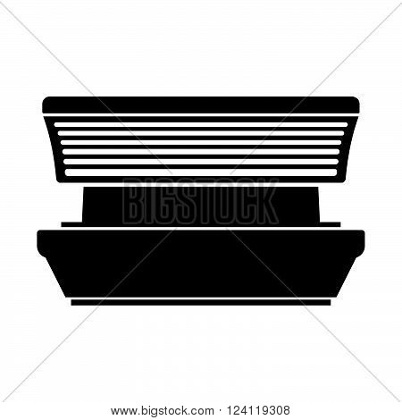 Tanning booth on white background, shade picture