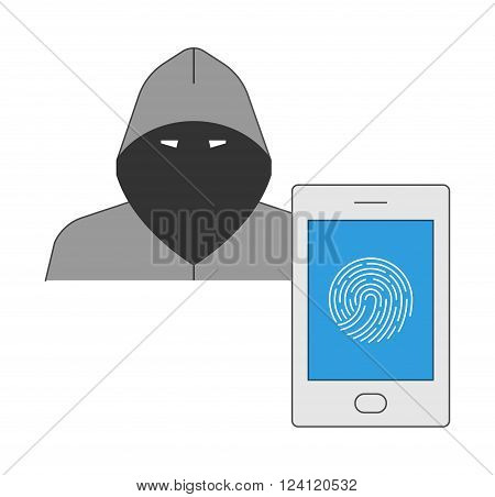 Biometric protection of the smartphone from hackers. Protection against cybercrime in the area of mobile communications.