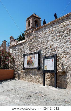 ALORA, SPAIN - JUNE 27, 2008 - View of the castle (Castillo del Cerro de las Torres) Alora Malaga Province Andalusia Spain Western Europe, June 27, 2008.