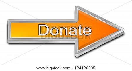 orange Donate Arrow Button on white background