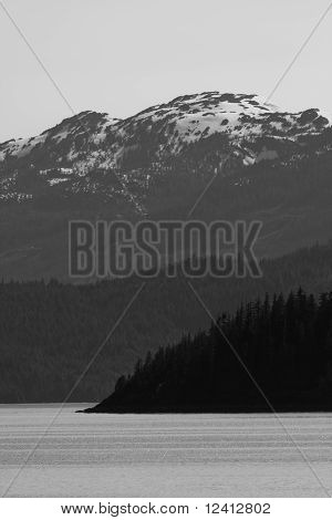 Southeast Alaska Mountain and Inlet Scenery