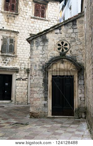 Detail of the Church of St. Luke's, Kotor (Montenegro)