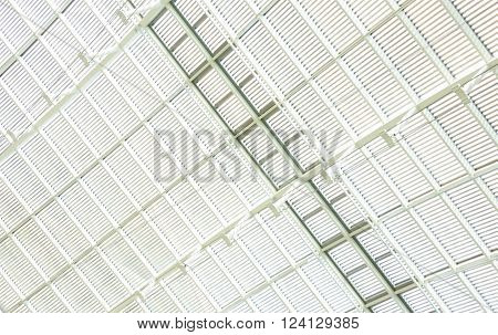 roof ceiling white abstract white line steel