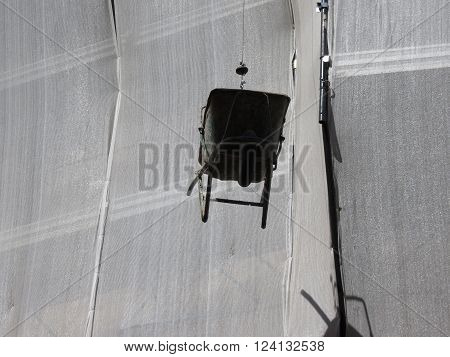 Wheel Barrow Suspended
