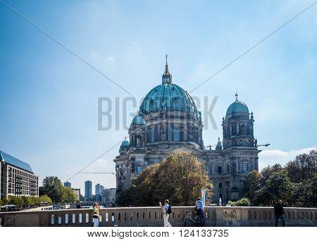 Berlin, Mitte - September 18 : Berlin Cathedral Church. German Berliner Dom. A famous landmark. September 18, 2014 in Berlin, Germany.