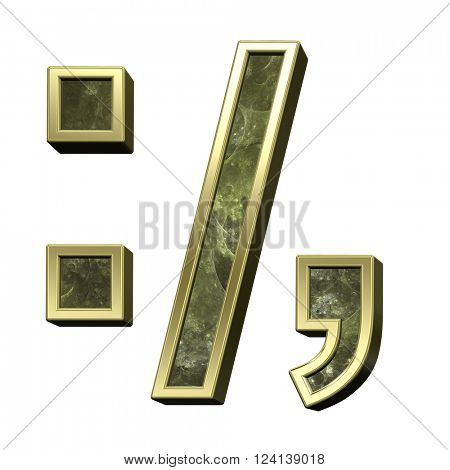 Colon, semicolon, period, comma from fire alphabet set isolated over white. 3D illustration.