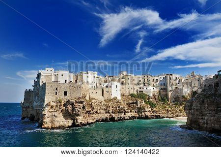 Polignano a mare in a summer day Apulia Southern Italy