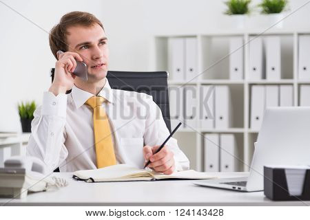 Businessman Speaking On Phone