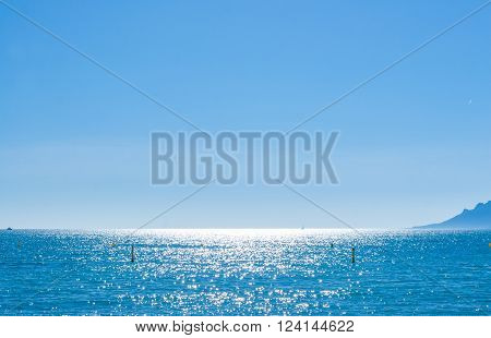 View Of Beautiful Landscape: Sea And Sunny Sky