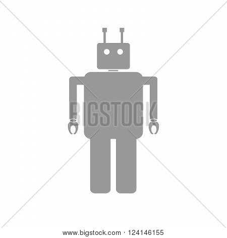 Simple flat robot Icon - vector illustration. Robot Icon Graphic