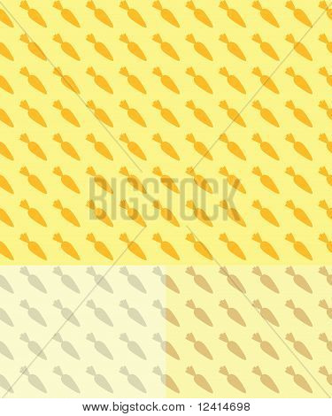 Seamless Carrot Pattern Background