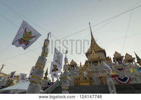 Thai People Pray For 6Th March Uranus Over City