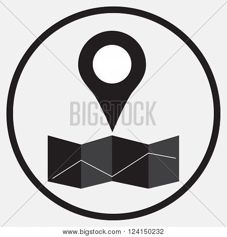 Pin location map monochrome. Badge button and map pin push pin and button pin pin vector for map. Map position point. Vector flat design illustration