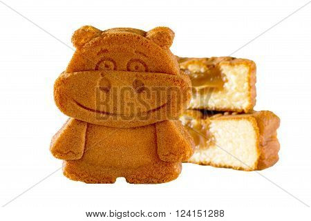 Biscuits With Filling In The Form Of A Hippopotamus