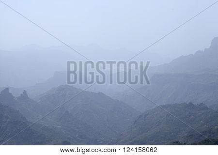 Gran Canaria, Calima U=in Caldera De Tejeda