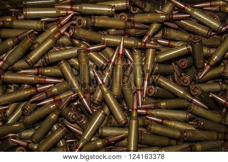 5.45 caliber cartridges for Kalashnikov automatic bulk for use as a screen saver