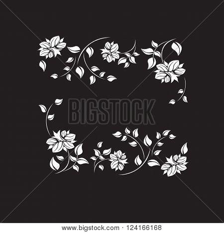 Vector flower frame illustration background heart vintage