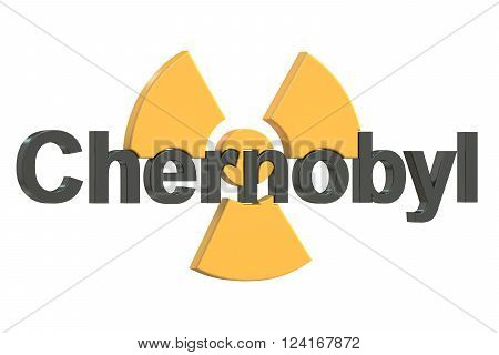 Chernobyl disaster accident concept  in 3D rendering