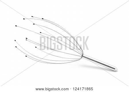 head massage spa tool isolated on white
