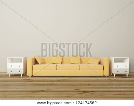 Sofa In Grey Room