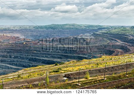 Iron ore mining. Mikhailovsky Mining and Processing Plant. Zheleznogorsk. Russia. Kursk Magnetic Anomaly