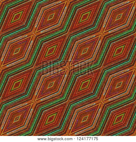 Seamless african colorful carpet or towel texture in diagonal pattern with ornamental rhombic pattern