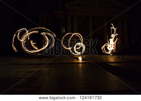 Long Exposure Fire Show