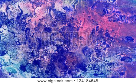 Cosmic Paper Marble Textures. Background texture. Color abstract background. Blue space watercolor background. Hand drawn gouache paint background. Colorful background texture.
