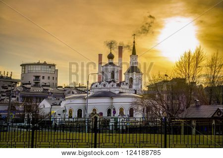 Church of the Feast of the Cross at the Clean Gorge in Moscow, Russia