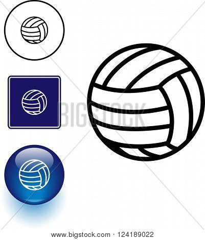 volleyball symbol sign and button