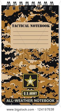 Tactical notebook for the army used in all weathers.