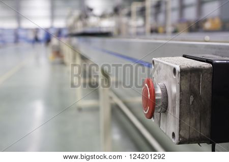 emergency stop button line assembly production, assembly,