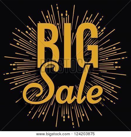 Super creative unique Super Big Sale with vintage golden hand drawn star or sunburst background. Sale background. Big sale. Sale banner. Vector Sale poster.