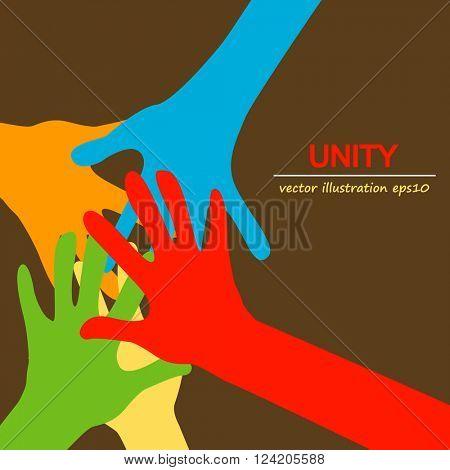 hands diverse unity