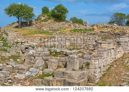 Ruins of ancient Troy, Canakkale Province, Turkey