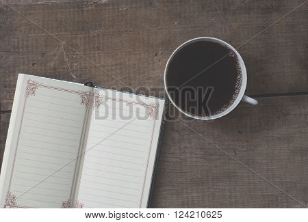 Coffee Mug And Notebook