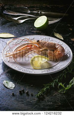 Cooking Langoustine