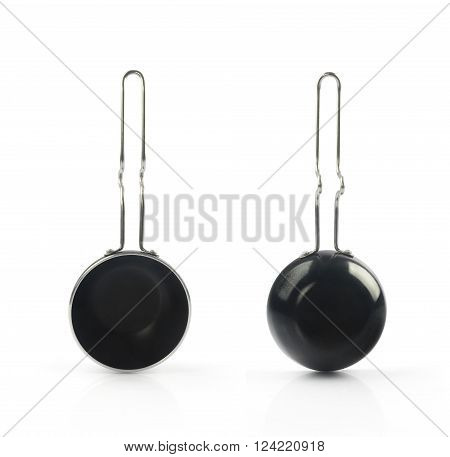 Stewpot with non-stick coating Isolated on White