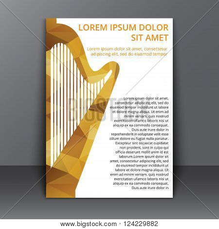 Flyer With Polygonal Harp