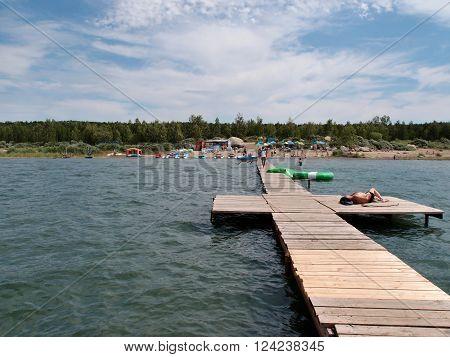 RESORT BOROVOE, KAZAKHSTAN - JULY 2015: Lake Shchuchye State National Natural Park