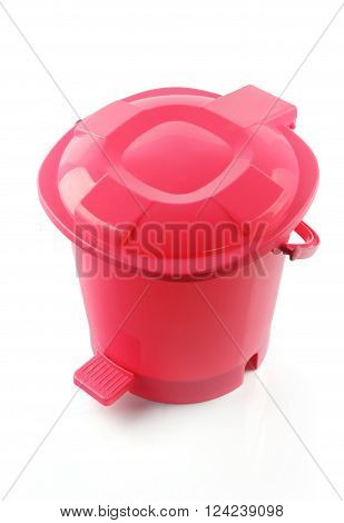 Plastic Dust Bin Isolated on White Background