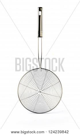 Stainless Steel Skimmer Isolated on White Background